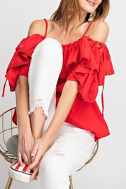 easel Riley Lace-Up Off-The-Shoulder - Side cropped