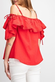 easel Riley Lace-Up Off-The-Shoulder - Other