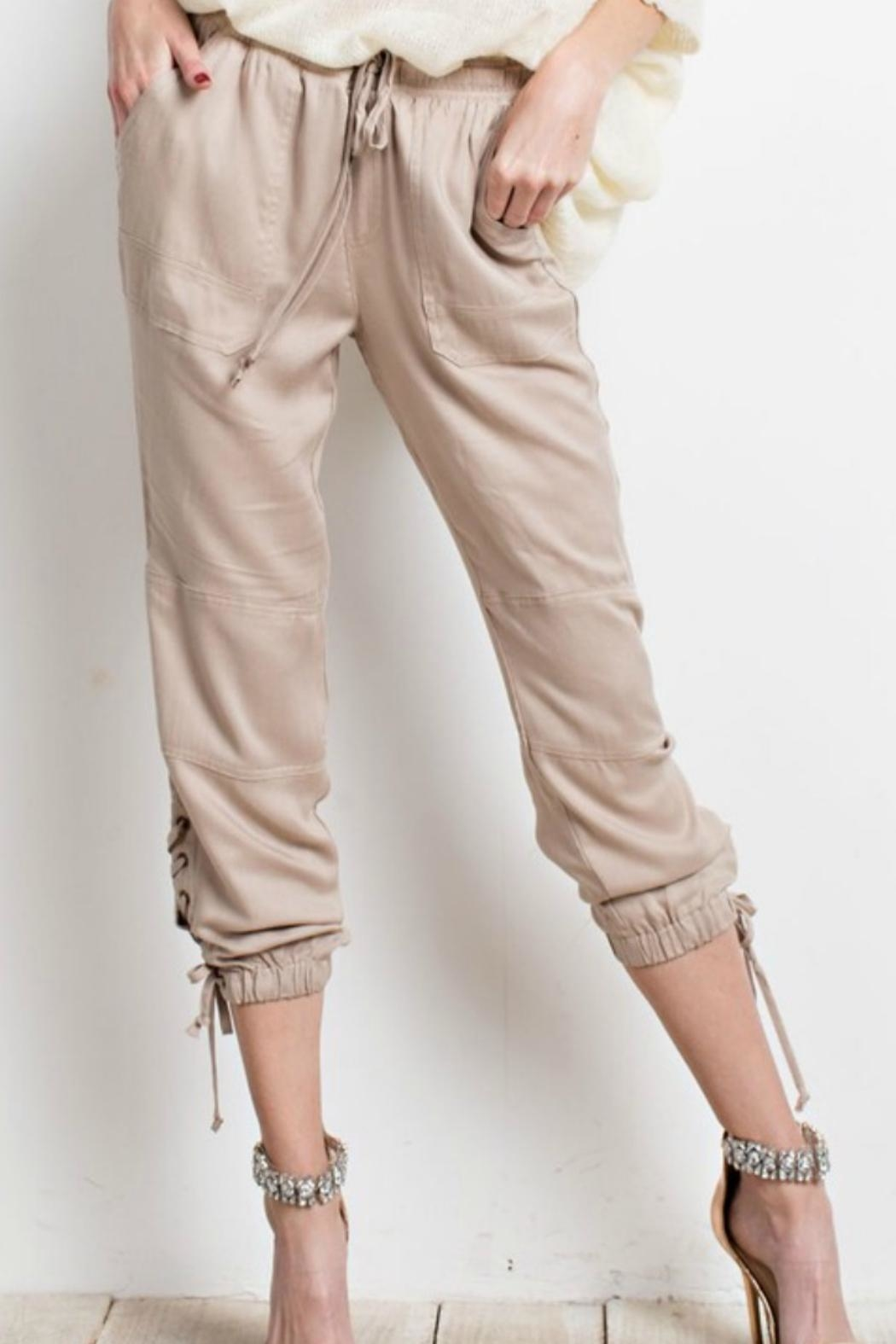 Easel Lace Up Jogger Pant From Texas By Ale S Closet