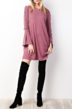 easel Lace-Up Sleeves Dress - Alternate List Image