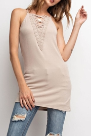 easel Laced-Up Cami Tunic - Product Mini Image