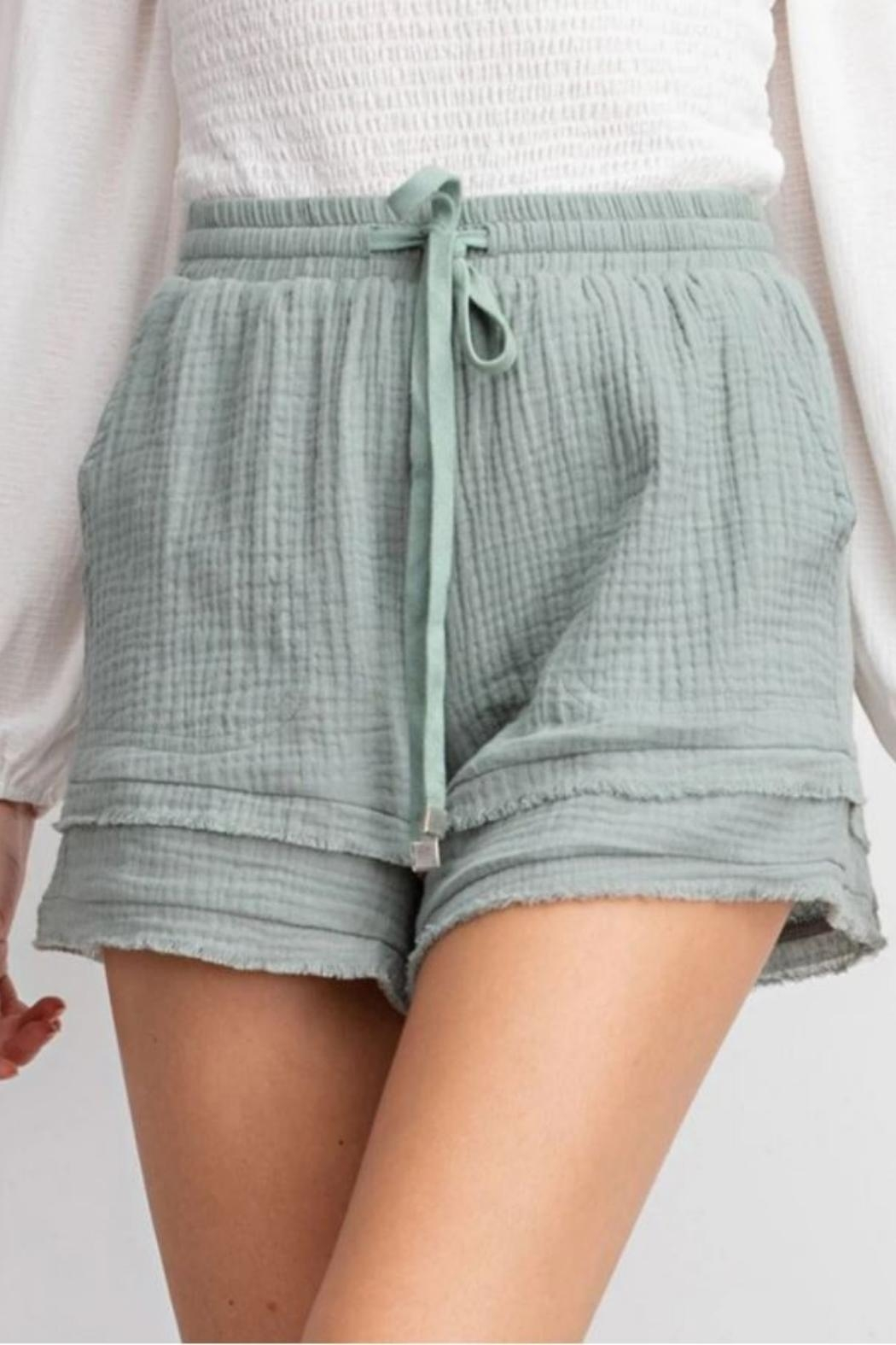 easel Layered Linen Short - Main Image