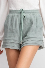 easel Layered Linen Short - Front cropped
