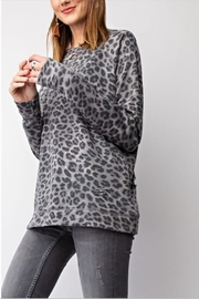 easel Leopard Crew Pullover - Product Mini Image