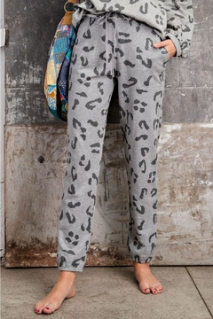easel Leopard Print Joggers - Product List Image