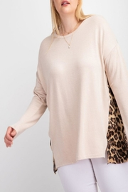 easel Leopard-Print Tunic Top - Product Mini Image