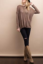easel Long Sleeve Knit Sweater - Product Mini Image