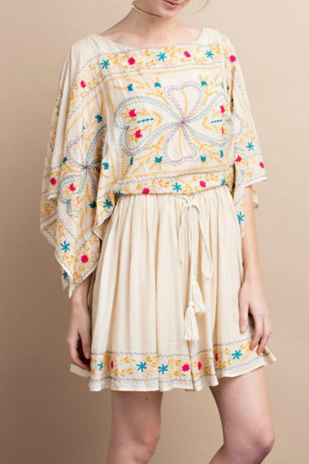 easel Maria Embroidered Dress - Side Cropped Image