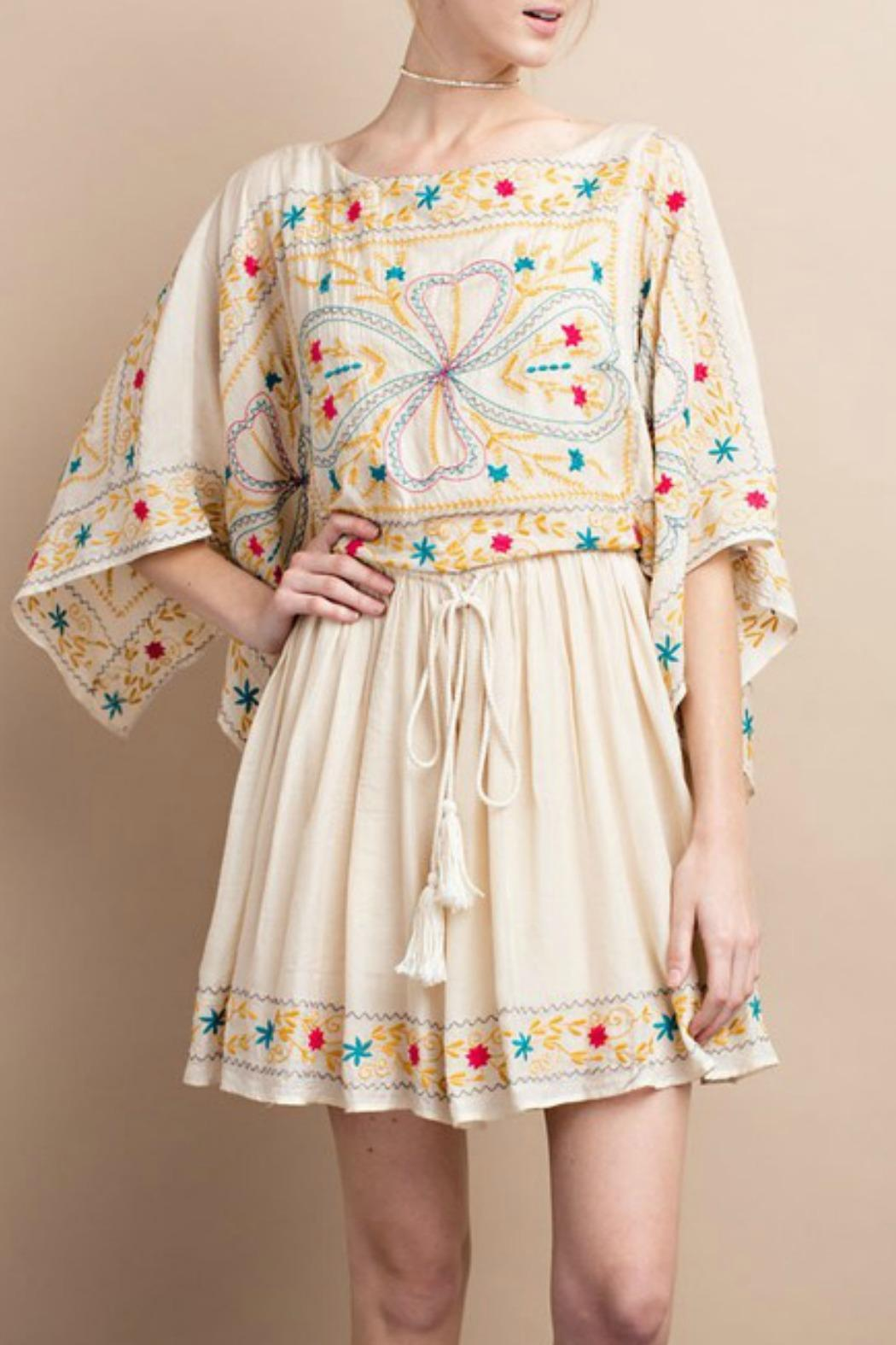 easel Maria Embroidered Dress - Front Full Image