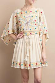 easel Maria Embroidered Dress - Front full body