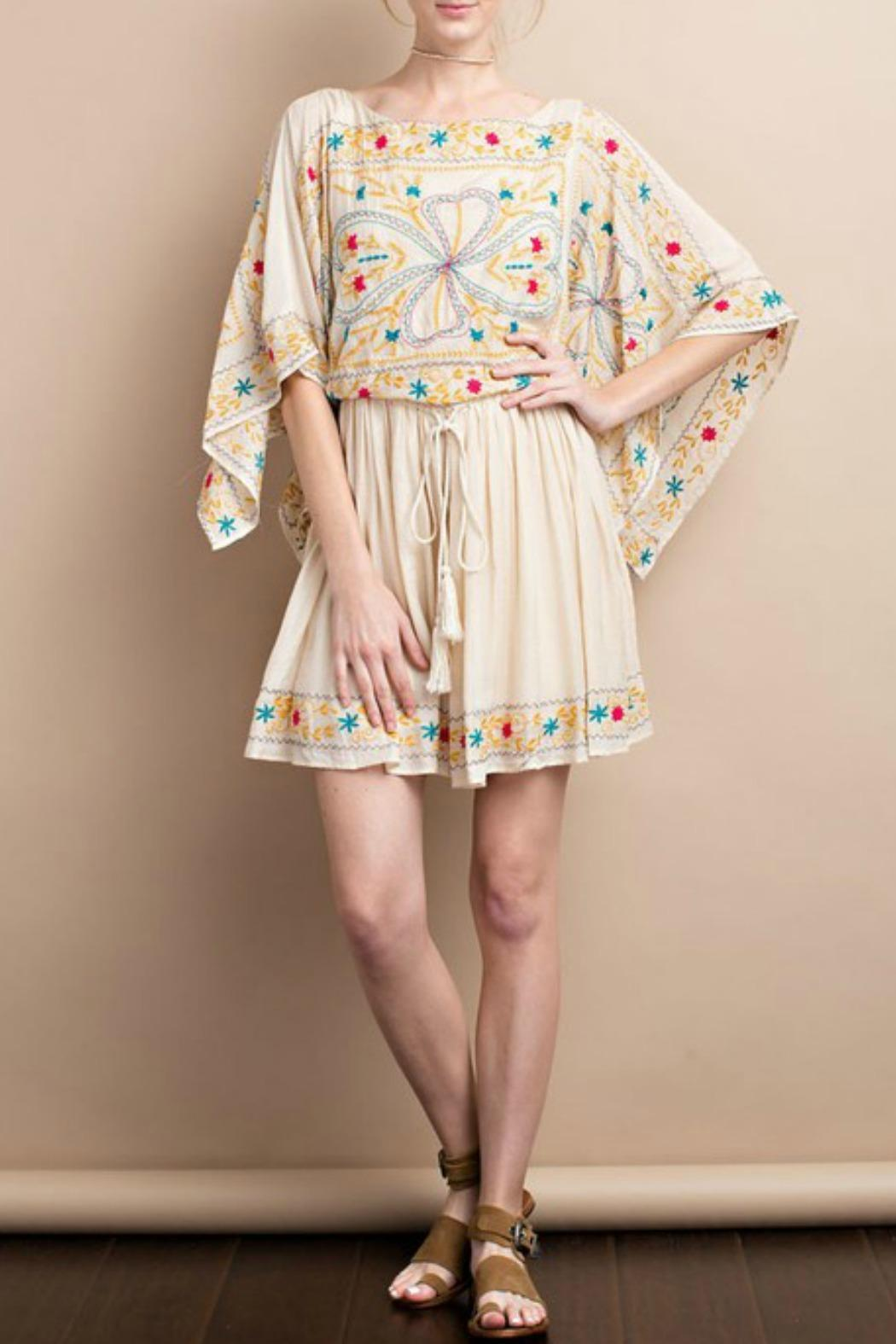 easel Maria Embroidered Dress - Main Image