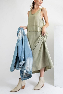 easel Mineral Wash Dress - Product List Image