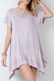 easel Mineral Washed Tunic - Front cropped