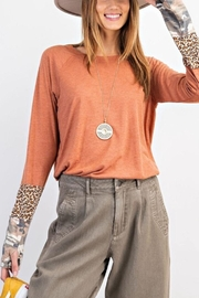easel Mixed Sleeve Top - Product Mini Image