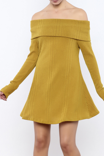 easel Mustard Sweater Dress - Main Image