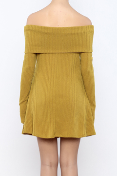 Shoptiques Product: Mustard Sweater Dress