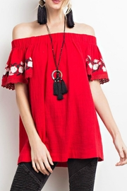 easel Off-Shoulder Embroidered Tunic - Product Mini Image