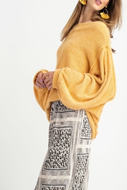 easel Off-Shoulder Sweater Tunic - Back cropped