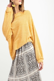 easel Off-Shoulder Sweater Tunic - Side cropped