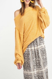 easel Off-Shoulder Sweater Tunic - Front cropped