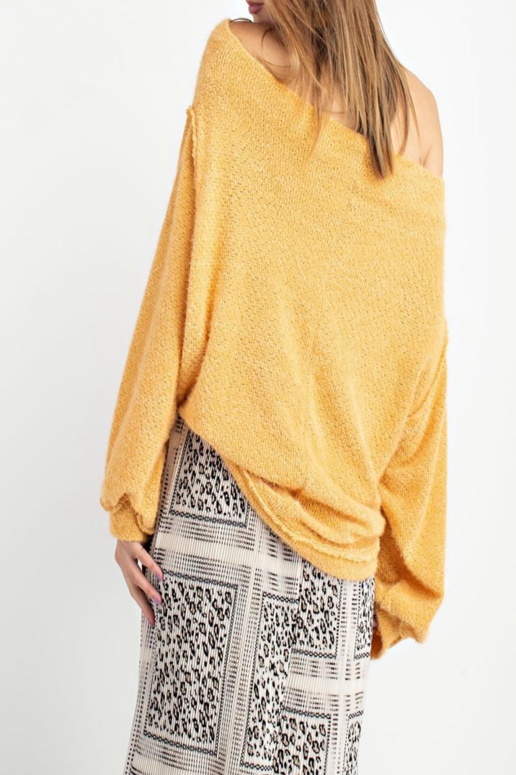 easel Off-Shoulder Sweater Tunic - Front Full Image