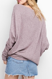 easel Off-The-Shoulder Thermal - Front full body