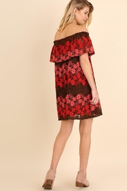 easel Ombre Red/pink Lacedress - Front full body