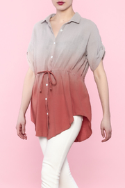 easel Button-Down Tunic Top - Product Mini Image
