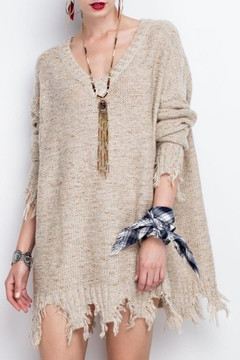 easel Oversized Distressed Hem Sweater - Product List Image