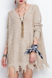 easel Oversized Distressed Hem Sweater - Product Mini Image