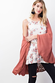 easel Oversized Drapey Cardigan - Side cropped