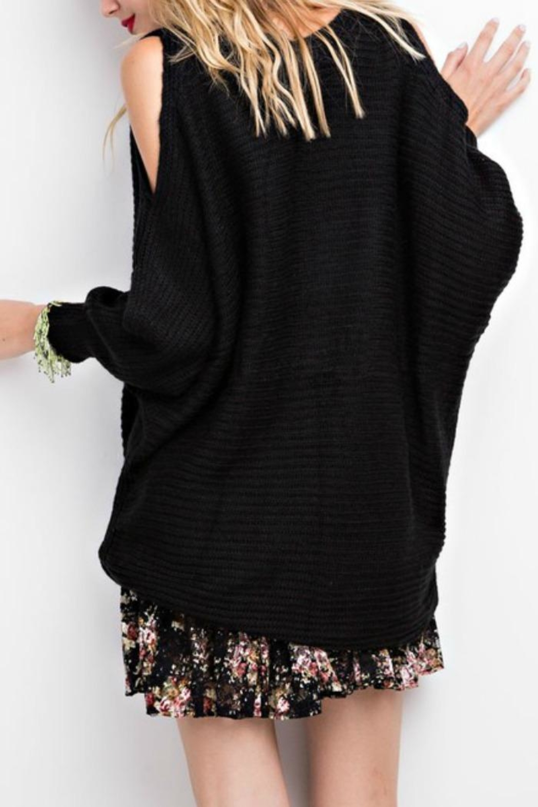 easel Oversized Sweetie Sweater - Front Full Image