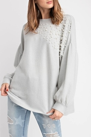 easel Pearl-Details Pullover Top - Product Mini Image