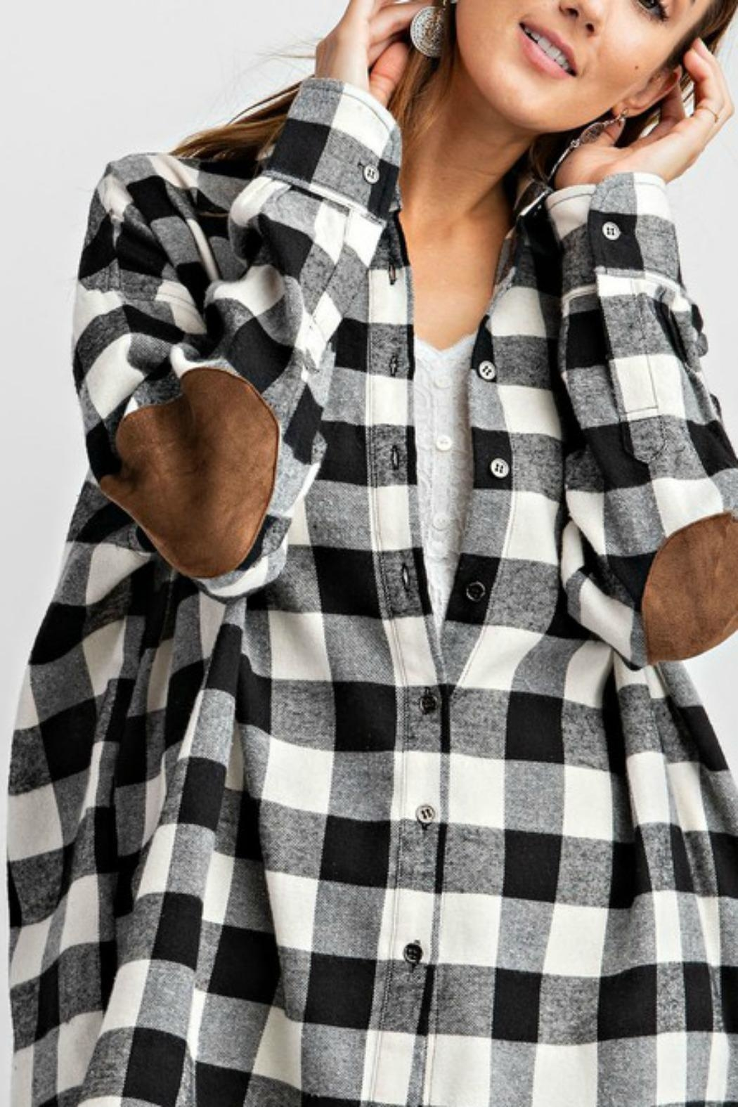 easel Plaid Flannel Top - Side Cropped Image