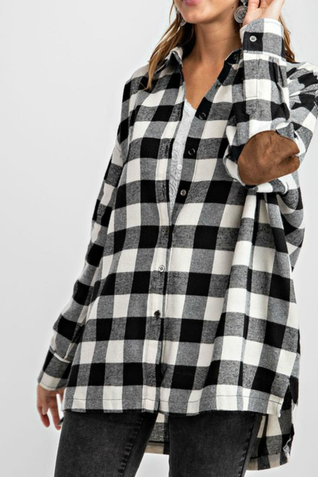 easel Plaid Flannel Top - Main Image