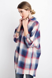 easel Plaid Long Sleeve - Front cropped