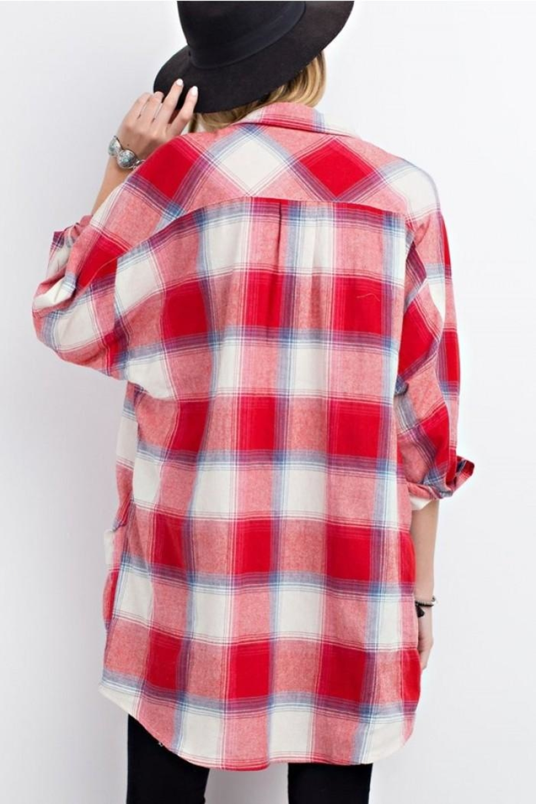 easel Plaid Long Sleeve - Front Cropped Image