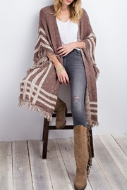easel Poncho Open Cardigan - Front cropped