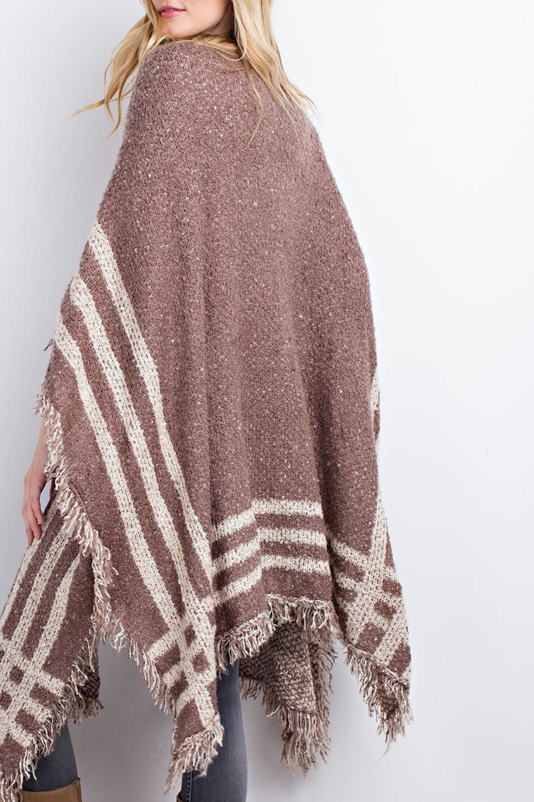easel Poncho Open Cardigan - Side Cropped Image