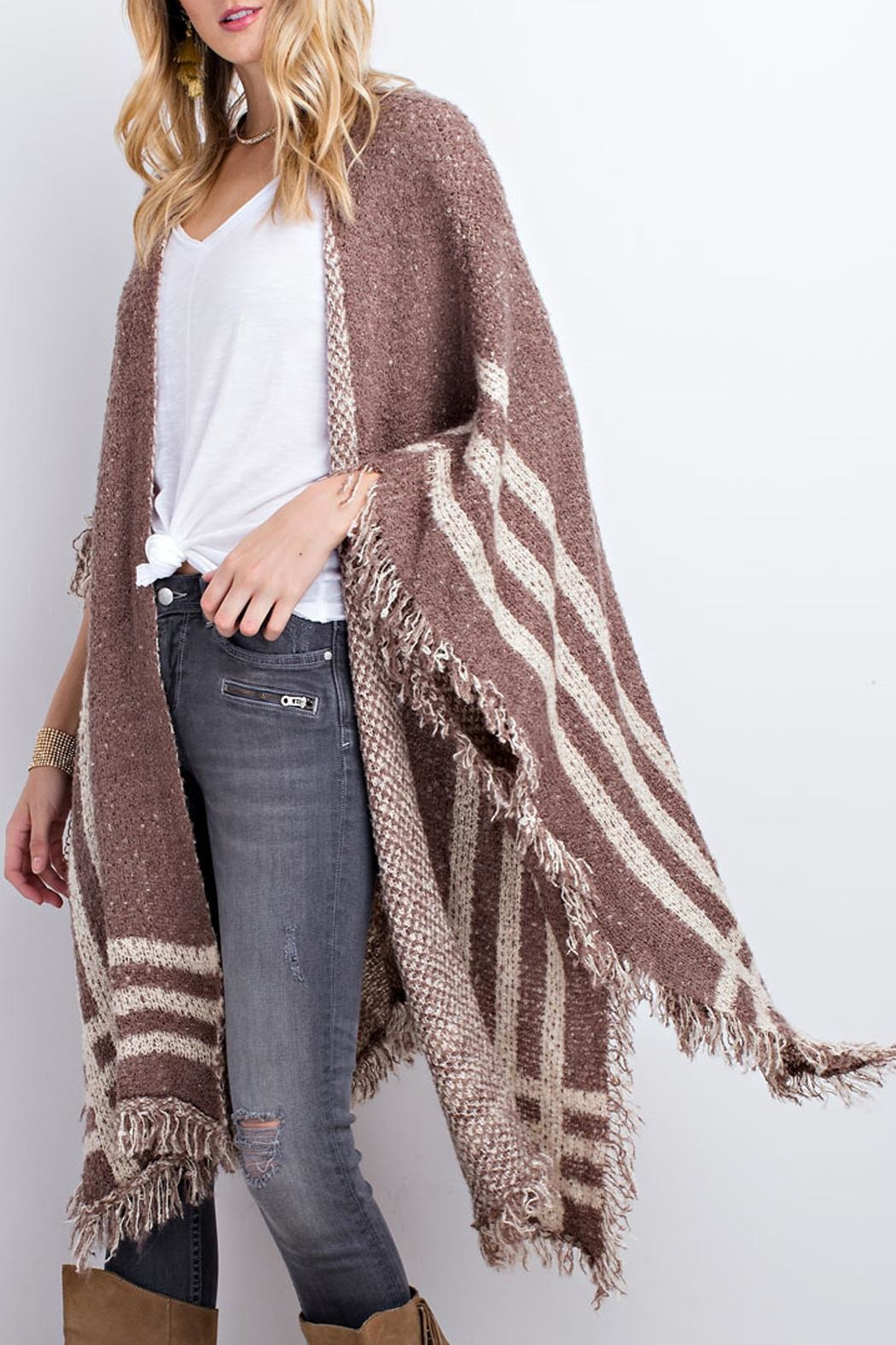 easel Poncho Open Cardigan - Front Full Image