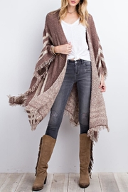easel Poncho Open Cardigan - Other
