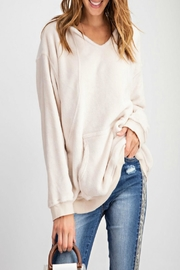 easel Pullover Hoodie Tunic - Front cropped