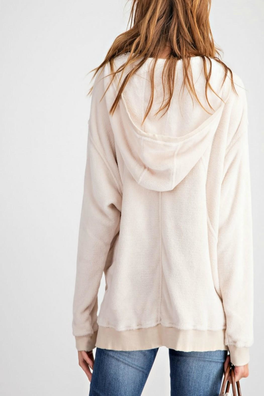 easel Pullover Hoodie Tunic - Front Full Image