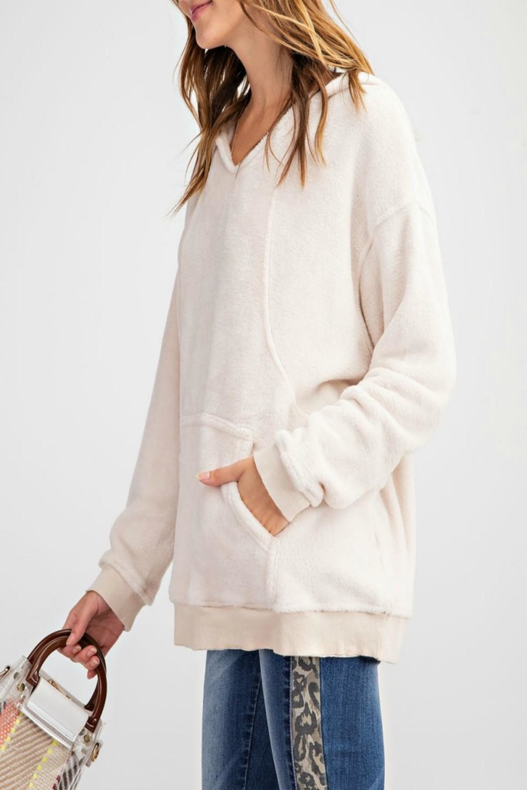 easel Pullover Hoodie Tunic - Side Cropped Image