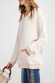 easel Pullover Hoodie Tunic - Side cropped