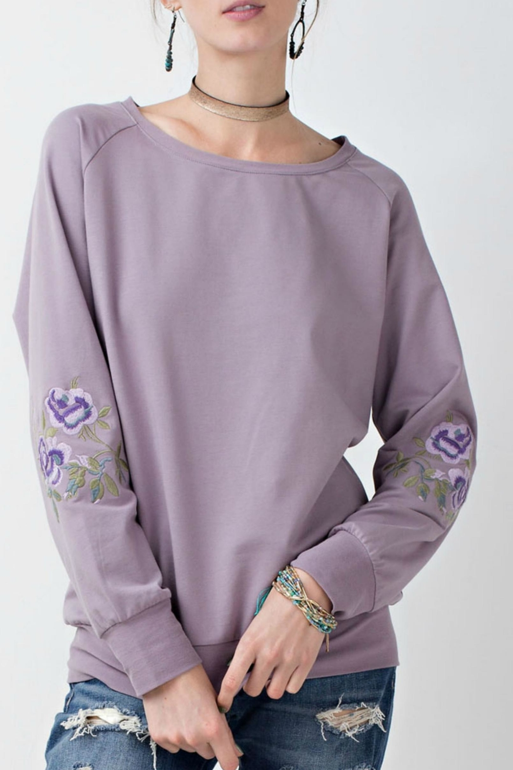 easel Pullover With Embroidery - Main Image