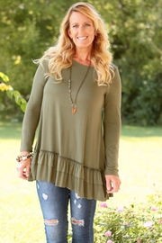 easel Ramona Olive Ruffle - Front cropped