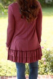 easel Ramona Plum Ruffle - Side cropped