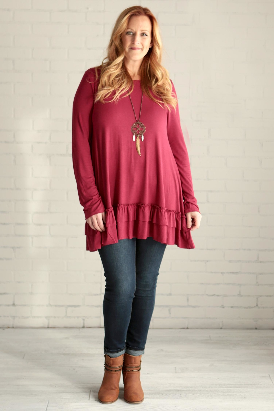 4c14d17bfee easel Ramona Ruffle Tunic from Kentucky by Lennon & Lace — Shoptiques