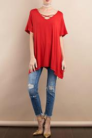 easel Red Tunic - Front cropped